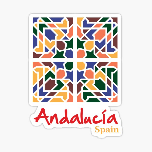 Andalusian Tiles 1 Sticker