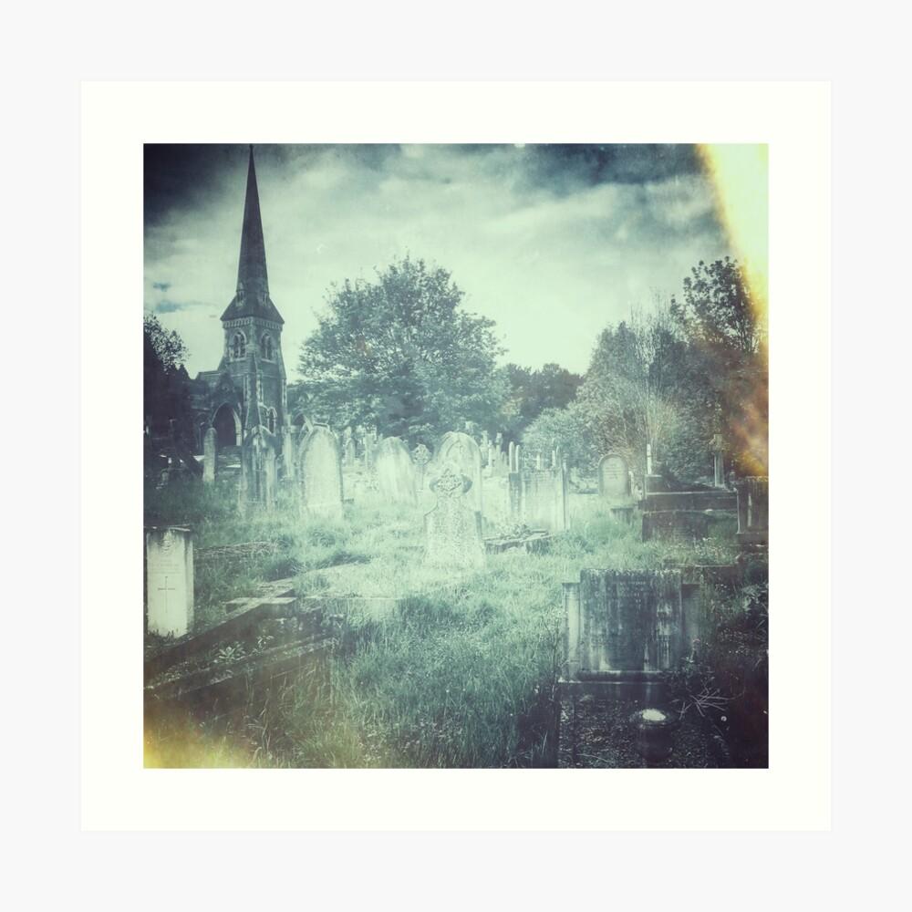 Somerset Graveyard Art Print