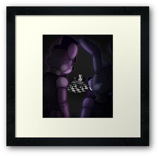 shadow freddy and shadow bonnie poster framed prints by toy bonnie