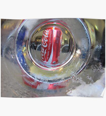 Coke through the glass Poster