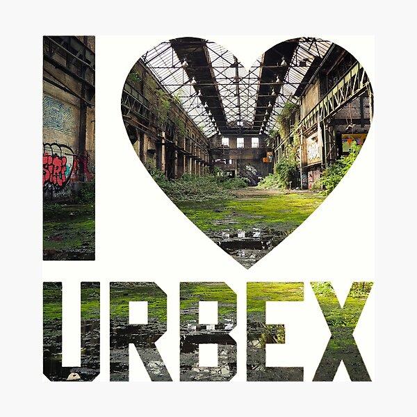 I love Urbex - Abandoned warehouse  Photographic Print