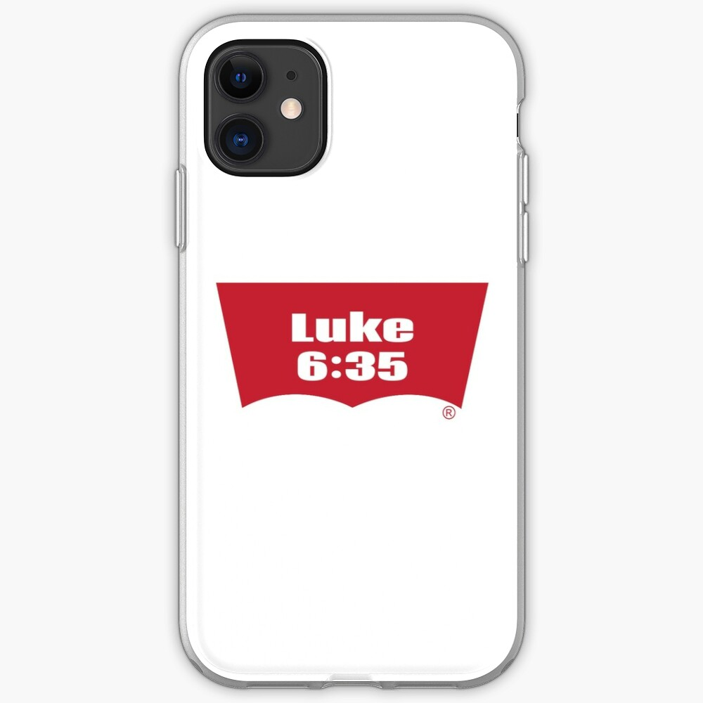 Luke 6:35 Bible Verse Inspirational Religious Biblical Phrase. But Love Your Enemies, Do Good To Them Without Expecting To Get Anything Back. iPhone Case & Cover