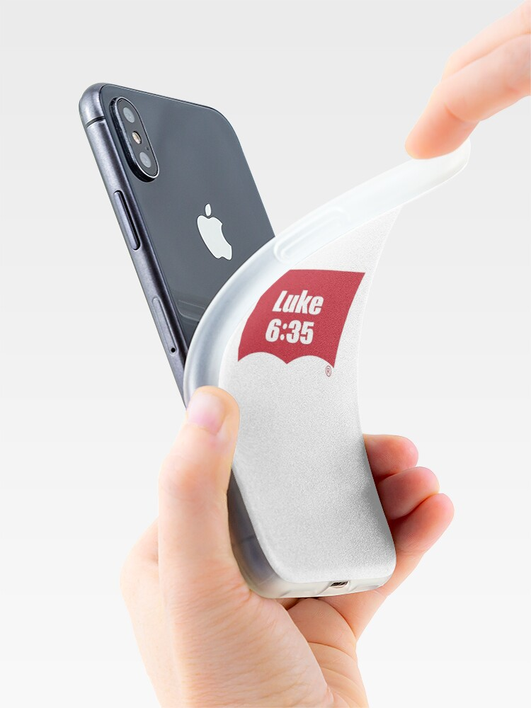 Alternate view of Luke 6:35 Bible Verse Inspirational Religious Biblical Phrase. But Love Your Enemies, Do Good To Them Without Expecting To Get Anything Back. iPhone Case & Cover