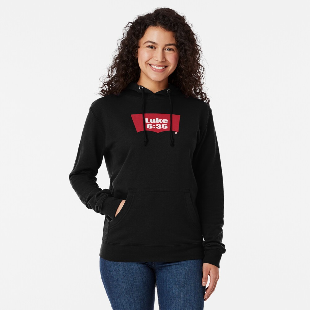 Luke 6:35 Bible Verse Inspirational Religious Biblical Phrase. But Love Your Enemies, Do Good To Them Without Expecting To Get Anything Back. Lightweight Hoodie
