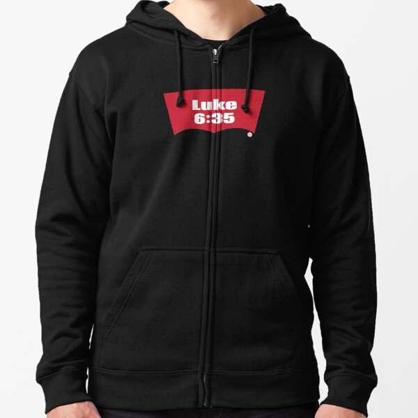 Luke 6:35 Bible Verse Inspirational Religious Biblical Phrase. But Love Your Enemies, Do Good To Them Without Expecting To Get Anything Back. Zipped Hoodie