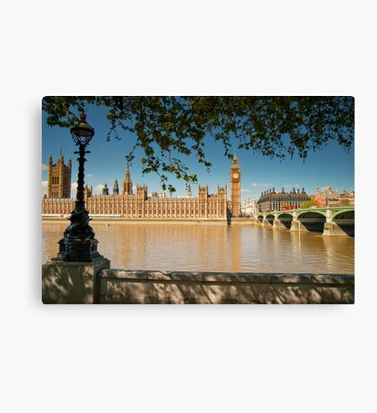 Houses of Parliament from the Southbank: London, UK Canvas Print