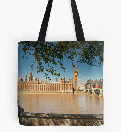 Houses of Parliament from the Southbank: London, UK Tote Bag