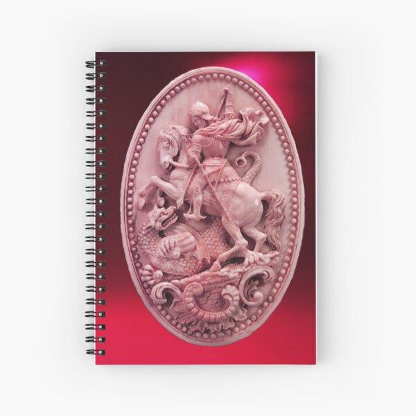 CAMÉO ANTIQUE / SAINT GEORGE ET DRAGON Rose Rouge Bordeaux Cahier à spirale