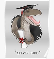 """""""Clever Girl"""" Poster"""
