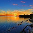 Sunsan River Autumn Sunset by Peter Doré