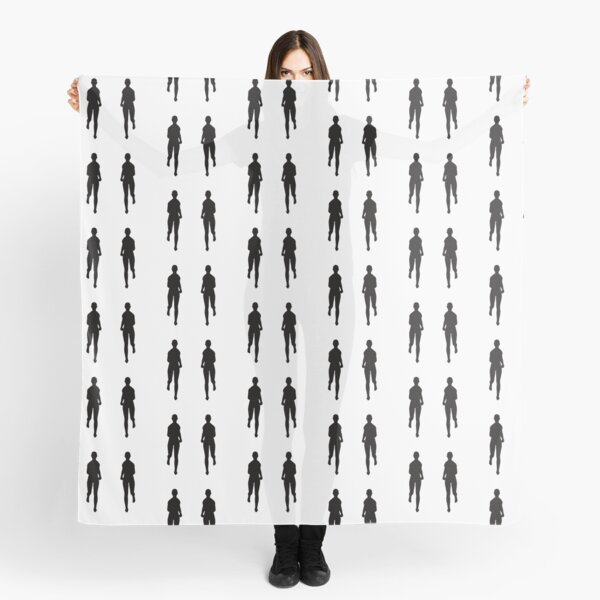 Twin Runners Jogging Silhouette Scarf