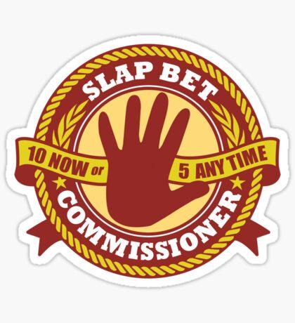 Slap Bet Commissioner Sticker