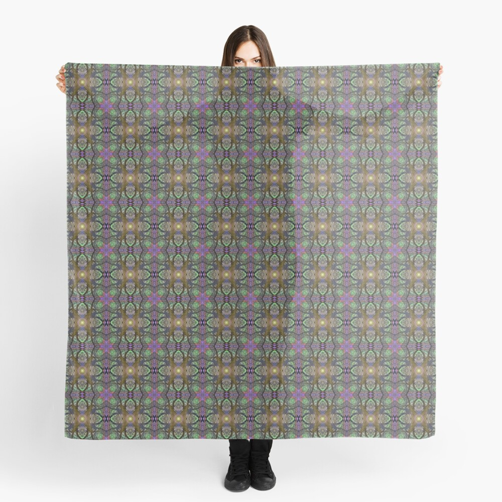 ANCIENT PEAR TREE MANDALA PATTERN Scarf