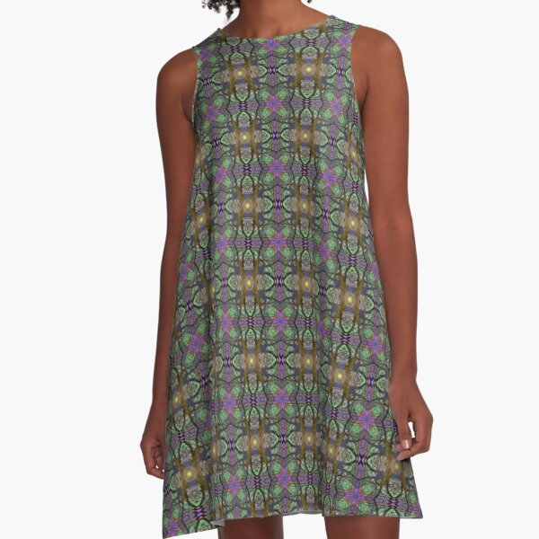 ANCIENT PEAR TREE MANDALA PATTERN A-Line Dress