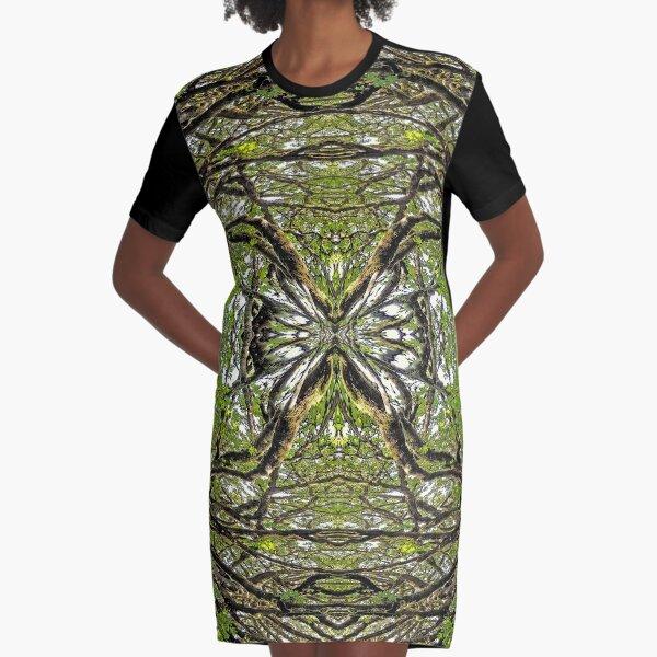 BIG LEAF MAPLE MANDALA 1 Graphic T-Shirt Dress