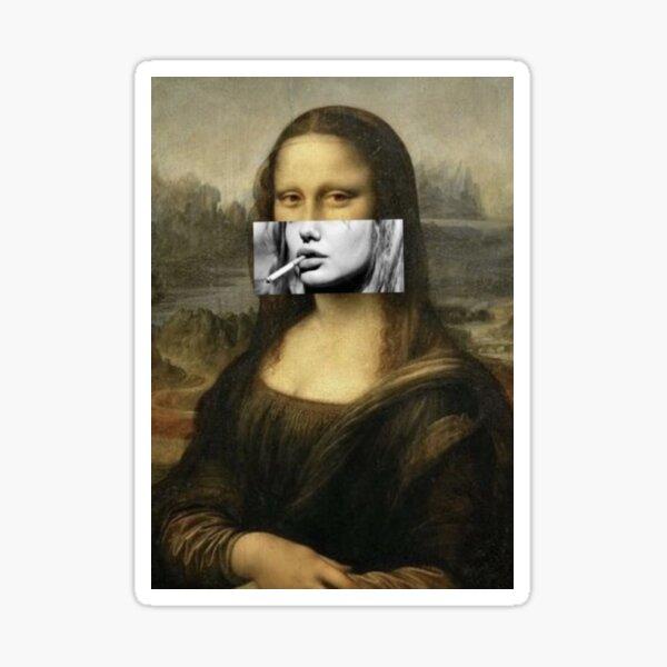 Mona Lisa Smoking Cigarette Sticker