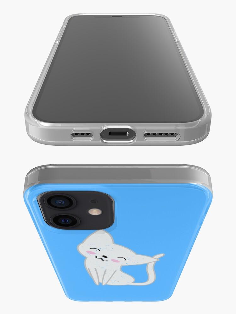 Alternate view of Cute White Cat iPhone Case & Cover
