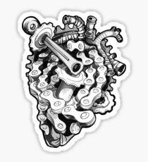 We love bikes - Black&White Sticker