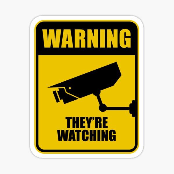 Warning They're Watching 1984 Sticker