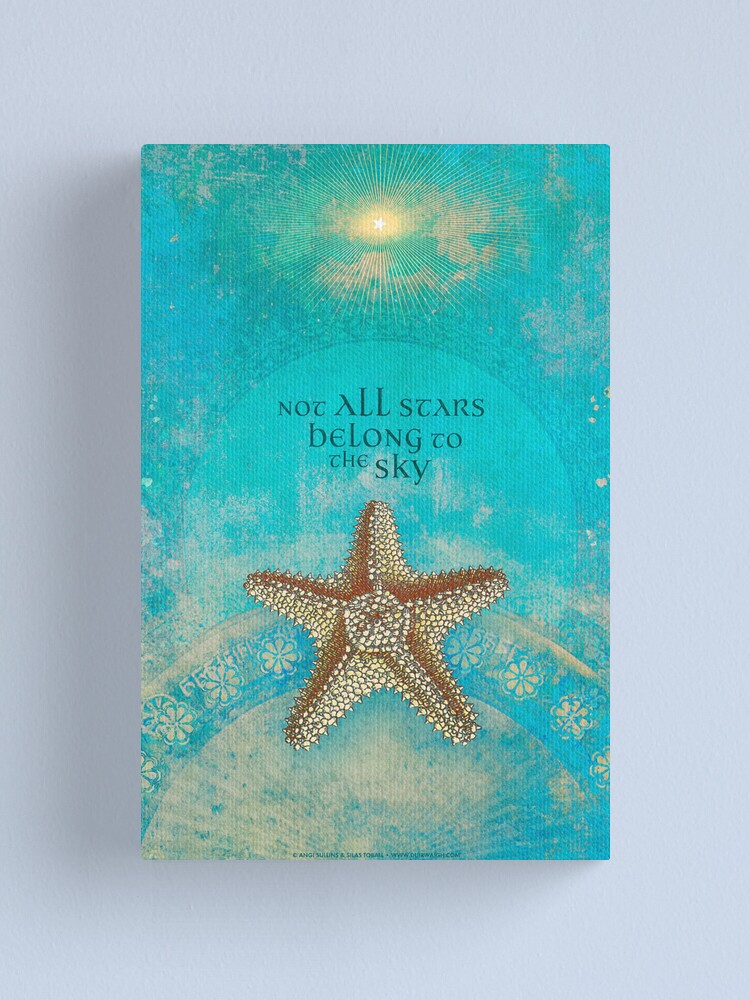 Alternate view of Not All Stars Belong to the Sky Canvas Print