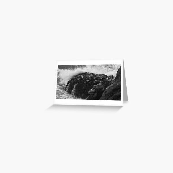 Crashing Wave, Hidden Bird Greeting Card