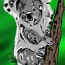 Koala on Green by ragtagart