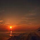 Sailing at sunset  by Andrea Rapisarda