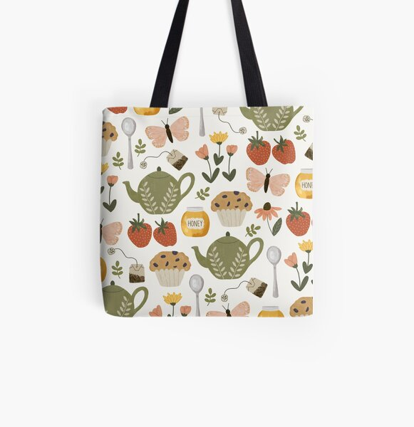 Afternoon Tea in the Garden All Over Print Tote Bag