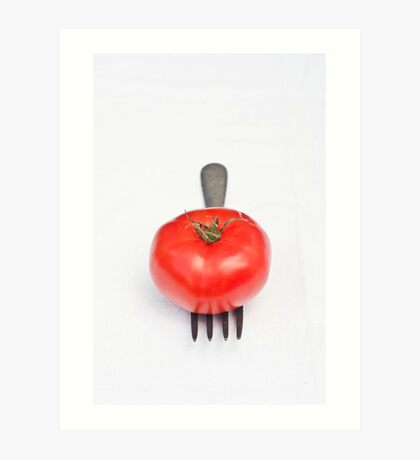 Tomato and Fork Art Print