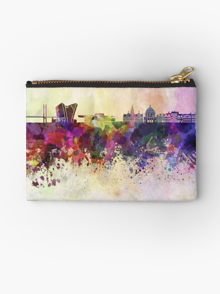 Copenhagen skyline in watercolor background by paulrommer