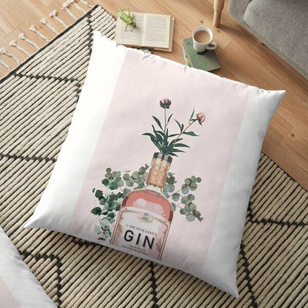 Pink Gin Artwork Floor Pillow