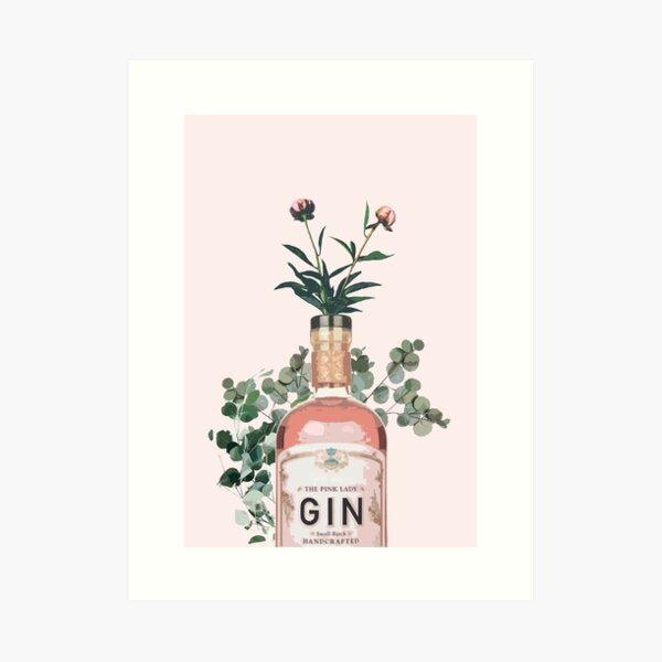 Pink Gin Artwork Lámina artística