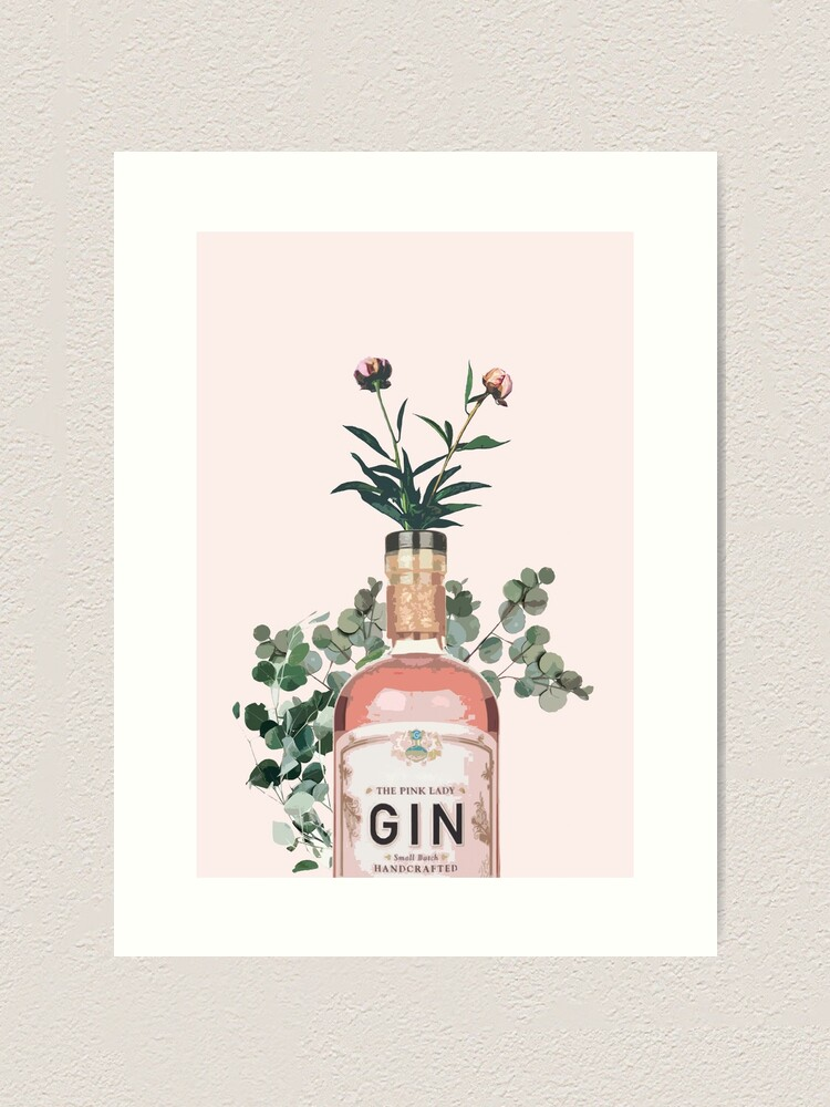 Alternate view of Pink Gin Artwork Art Print