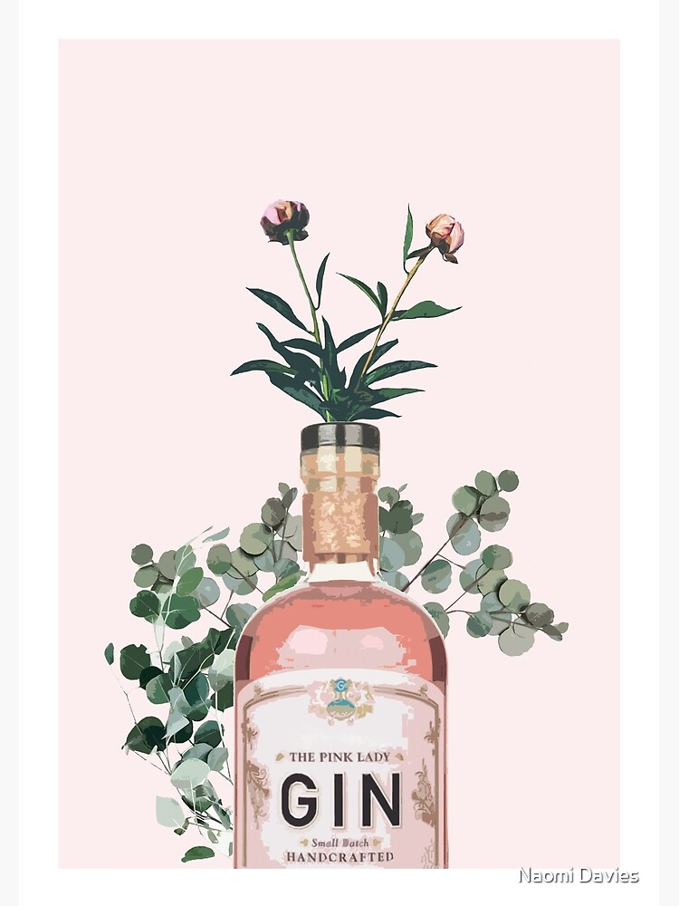 Pink Gin Artwork by Naomillustrates