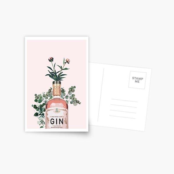 Pink Gin Artwork Postcard