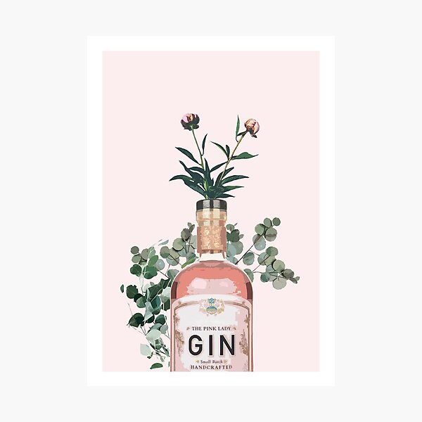 Pink Gin Artwork Photographic Print