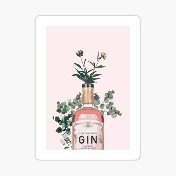 Pink Gin Artwork Sticker