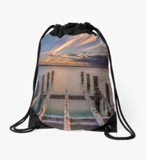 Ryde Pier Structure Isle Of Wight Drawstring Bag