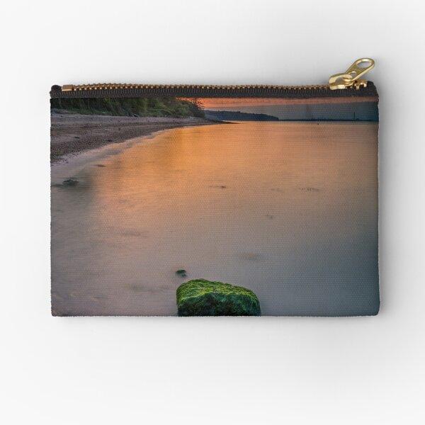 Rocky Woodside Bay Beach Isle Of Wight Zipper Pouch