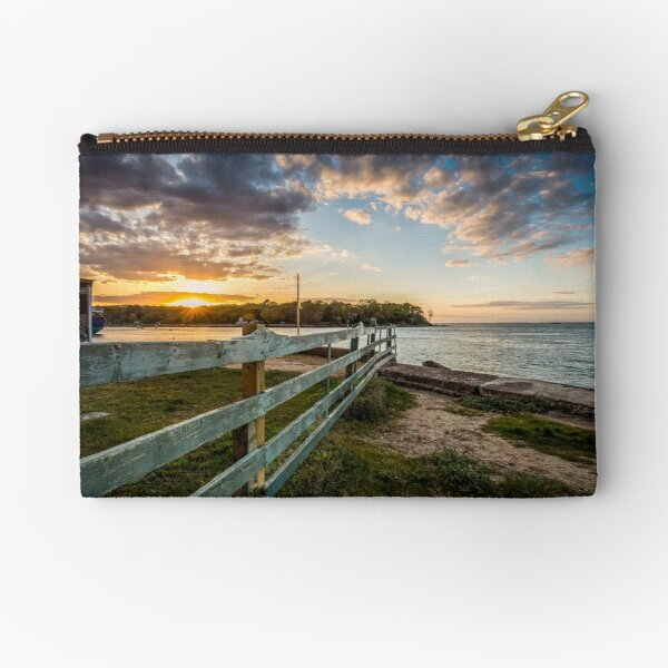 Fishbourne Sunset Isle Of Wight Zipper Pouch