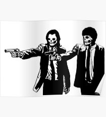 Vincent & Jules Skull Art Poster
