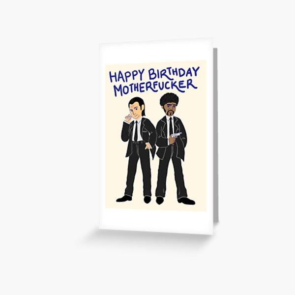 Tarantino Geburtstagskarten - Pulp Fiction 3 Grußkarte