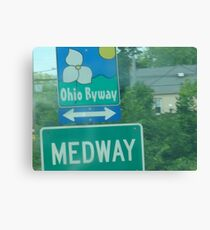 Medway: A short bio and an Ohio Scenic Byway  Canvas Print