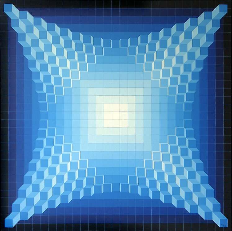 Structure Cubique Quadri B by Jean Pierre Vasarely Yvaral by masterworks