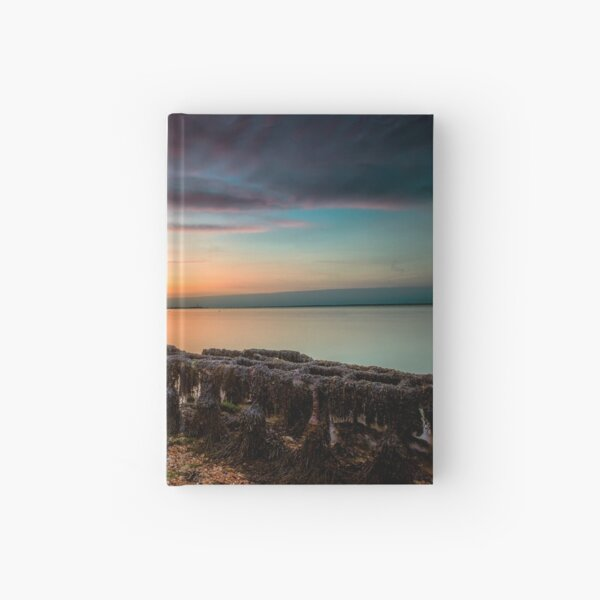 Woodside Beach Sunset Isle Of Wight Hardcover Journal