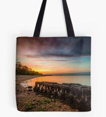 Woodside Beach Sunset Isle Of Wight Tote Bag