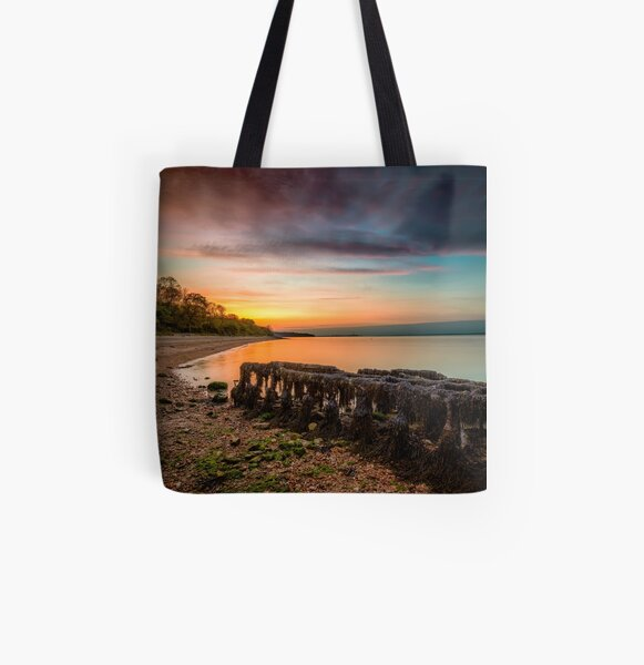 Woodside Beach Sunset Isle Of Wight All Over Print Tote Bag