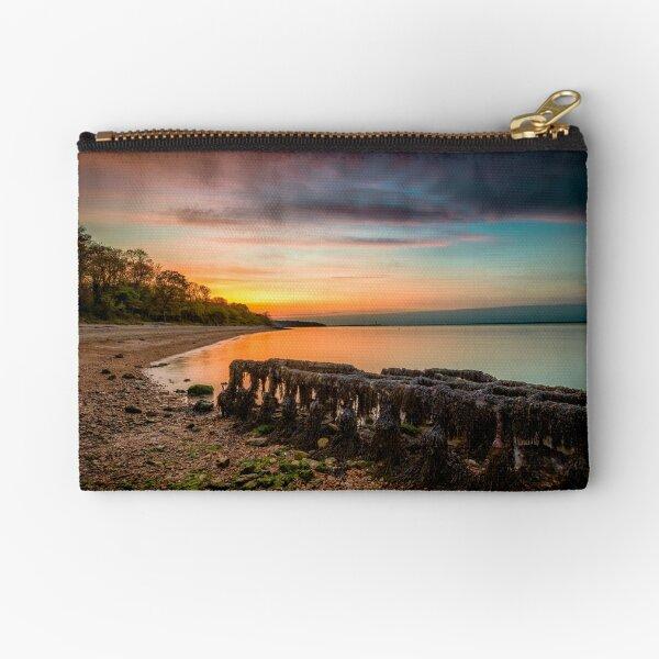 Woodside Beach Sunset Isle Of Wight Zipper Pouch