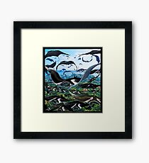Ocean Invasion #7: The Great Migration Framed Print