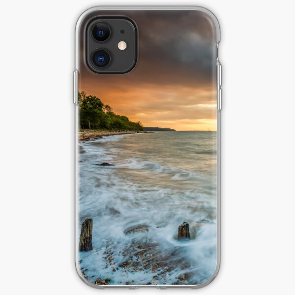 Woodside Beach Surf Sunset Isle Of Wight iPhone Soft Case
